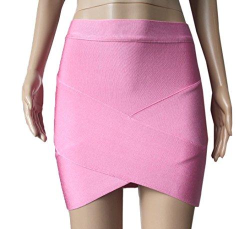 Bal Irrgulier Hanche Moulante Mode Mini Jupes de Jupe Soire Femmes Package Rose Fte de Club xRUYqwf5