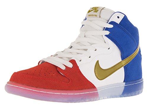 Nike Dunk High Premium Sb, Zapatillas de Deporte para Hombre challenge red, mtllc gld-gm ryl