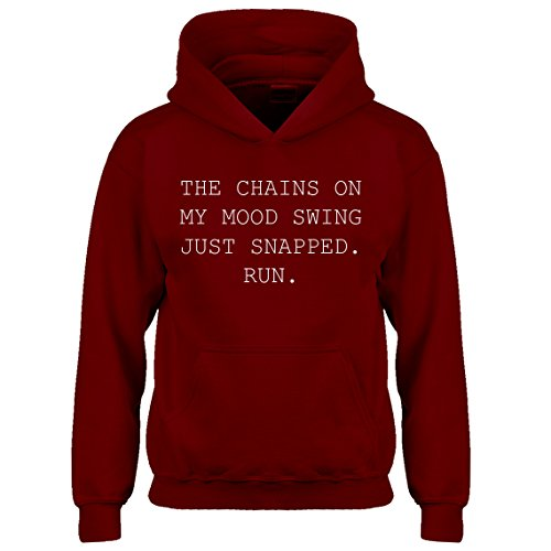Indica Plateau Hoodie My Mood Swing X-Large Red Kids - Mean Next Day Shipping Air