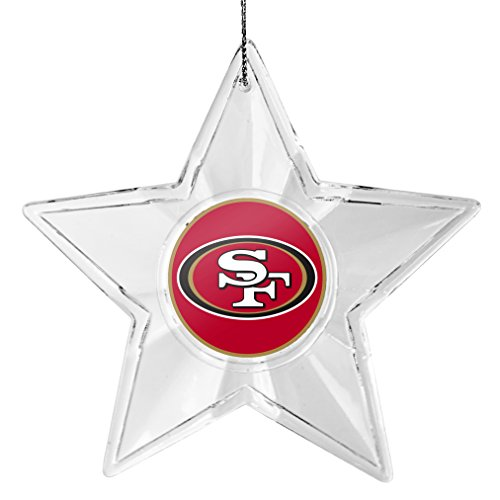 49ers Christmas Ornaments (NFL San Francisco 49ers Traditional Acrylic Star)