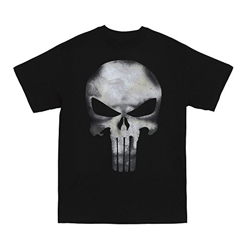 Punisher Costume (Marvel The Punisher Men's No Sweat T-Shirt, Black, XX-Large)