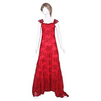 Noor Bodycon Dress For Women - 38 Eu, Red