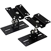 One Pair of Satellite Speaker Mount Bracket with Adjustable Tilt and Swivel for Wall and Ceiling