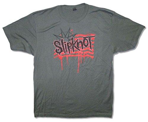 Slipknot Flag World Tour 2015 Adult Men's Gray T Shirt (XL)]()