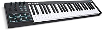 Alesis V49 | 49 Key Usb Midi Keyboard & Drum Pad Controller (8 Pads / 4 Knobs / 4 Buttons) by Alesis