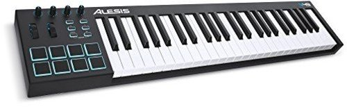 Alesis, 49-key 49-Key USB MIDI Keyboard Controller with 8 Backlit Pads, 4 Assignable Knobs and Buttons, Plus a Professional Software Suite with ProTools | First Included, 49-key (V49)