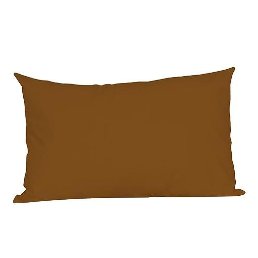 Loolik Fundas de Cojines,Rectángulo de Color Sólido Throw Pillow Case Funda de Almohada para Cojín 30 x 50 CM (Coffee)
