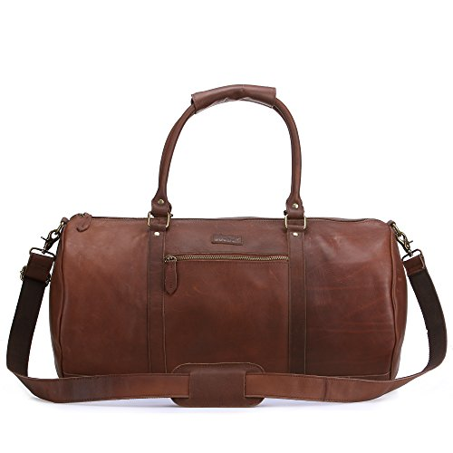 JoeBo Handgepäck Braun Waxy Light Brown Large holdall Waxy Light Brown
