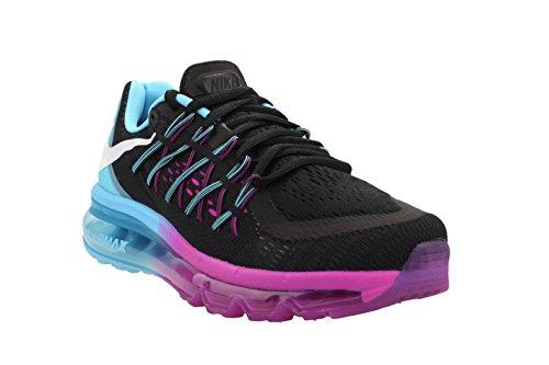 Nike Women Air Max 2015 Black/Flsh Lime/White/Fchs Glw Running Shoe 7.5 Women US