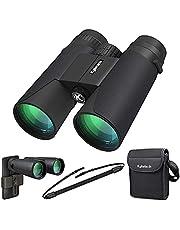 Kylietech Verrekijker 12x42 HD Compacte Verrekijker Waterdicht voor Vogels Kijken, Wandelen, Jagen, Sightseeing, FMC-Lensverrekijker incl. Draagtas, Draagriem en Smartphone-Adapter