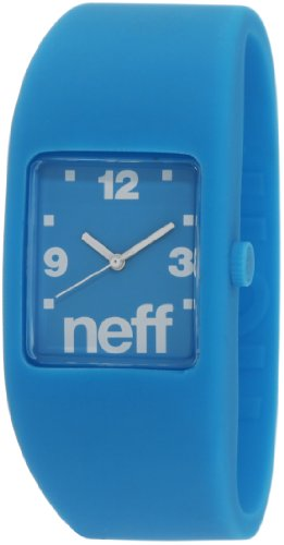 Neff Men's F11703-L/XL-Cyan Sleek Bandit Cyan Watch, Watch Central