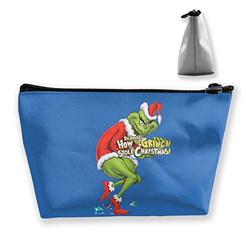 PSnsnX Cosmetic Bags How The Grinch Stole Christmas Portable Travel Makeup Pouch Toiletry ()