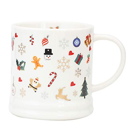 Christmas Gifts Coffee Mug Ceramic Tea Cup Perfect Gift For Family and Friend 14oz Santa Holiday Dining Mug