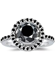 Women's ring silver inlaid With a black sapphire stone US size 6