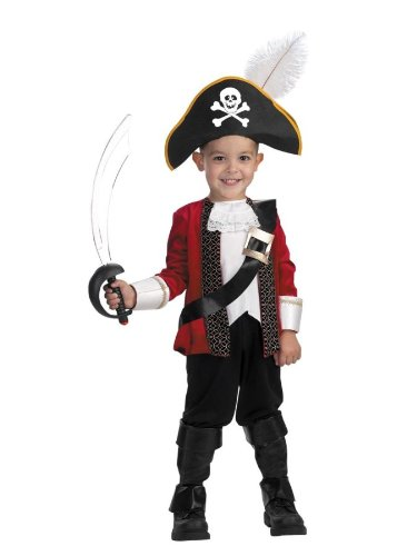 El Captain Toddler Costume - Toddler (Toddler Petite Pirate Costumes)