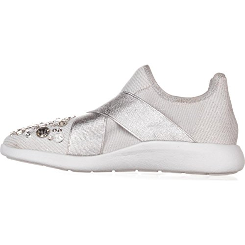 ALDO Womens Dorea Low Top Slip On Fashion Sneakers, Silver, Size 6.5