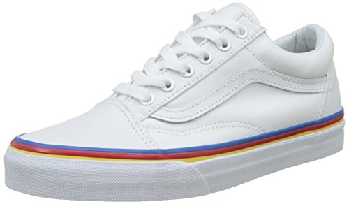 Vans Männer Old Skool Core Classics Regenbogenfuchs True White