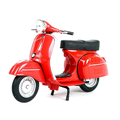 LUCKYCAR 1:18 Vespa Piaggio 1968 GTR Pedal Simulation Alloy Motorcycle Model, Car Model Decoration, Motorcycle Collector, Static Model, Metal Casting ()