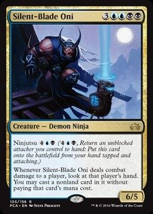 Magic: the Gathering - Silent-Blade Oni (105/156) - Planechase Anthology