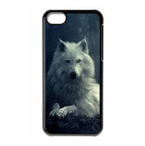 Hard back case with Wolf theme for iPhone 5C