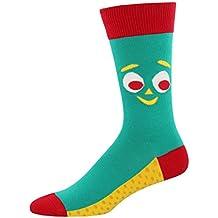 "Socksmith Mens' Novelty Crew Socks ""Gumby"" - Gumby Green"