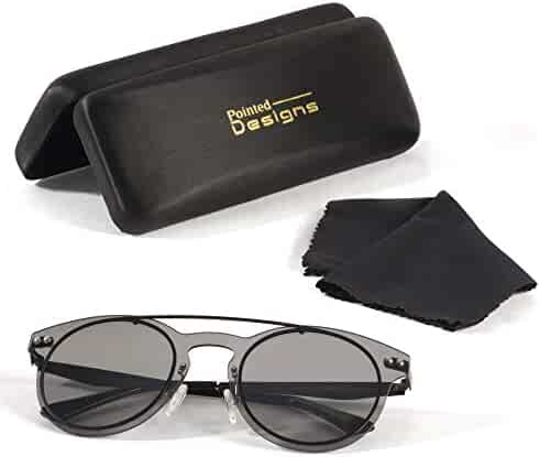 9fd3725e52331 Sunglasses - Premium Round Polarized Sunglasses with Case and Cloth - by  Pointed Designs