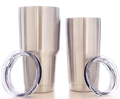 Eskimo Coolers Stainless Steel Double Wall Vacuum Insulated Tumbler with Lid,30 oz & 20 oz. Combo Set of 2