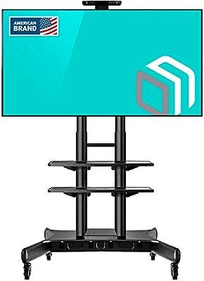 ONKRON Carro TV Soporte Móvil de Piso Pantallas LCD, LED, QLED de 55