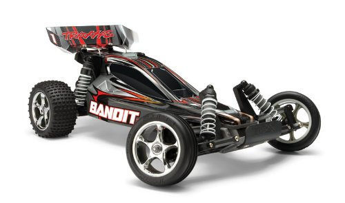 Traxxas 24054-1 Bandit 1/10 Scale 2WD Off-Road Buggy with TQ 2.4GHz Radio, Silver