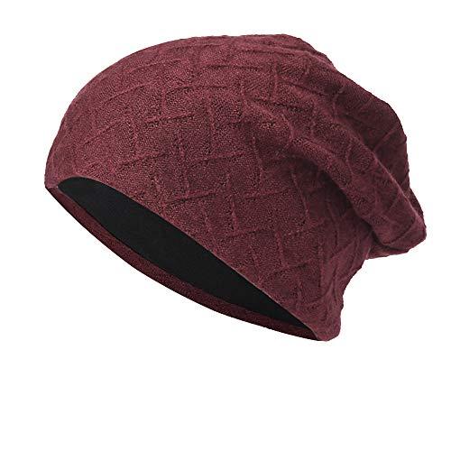 New Knit Beanie for Women & Men Hot Sale DEATU Hedging Head Hat Headwear Cap Warm Outdoor Hat(A-Wine)