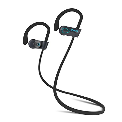 SHARKK Flex 2o Bluetooth Headphones Wireless Workout Headphones IP67 Sweatproof Waterproof Sport Earbuds Headphone with Mic