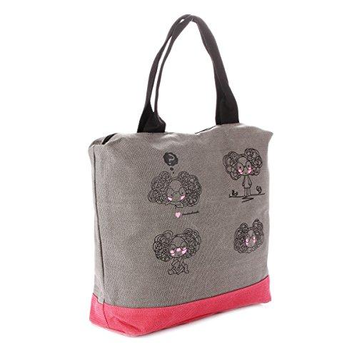 Damara lona equipaje bolsas Casual bolso de hombro bolsa gris oscuro