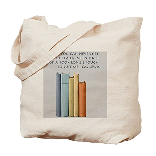 CafePress - Tea And Books - Natural Canvas Tote Bag, Cloth Shopping Bag (Cookies Printed Custom)