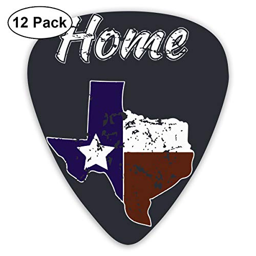 HFX Guitar Picks Vintage Texas Flag Texan Pride Guitar Pick Plectrums for  Electric Guitar, Acoustic Guitar, Mandolin, and Bass - 12 Pack