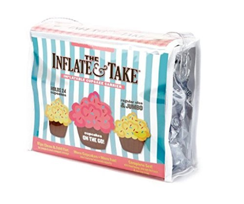 Silvermark Inflate and Take Cupcake Carrier by Trudeau