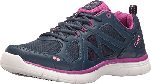 Ryka Womens Divine Training Shoe Insignia Blue Vivid Berry Calypso Coral Us 6 W