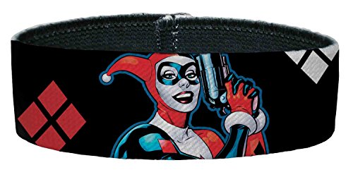 Joker DC Comics Supervillain Harley Quinn Pop Gun Elastic Plastic Bracelet Dark Knight Joker Card