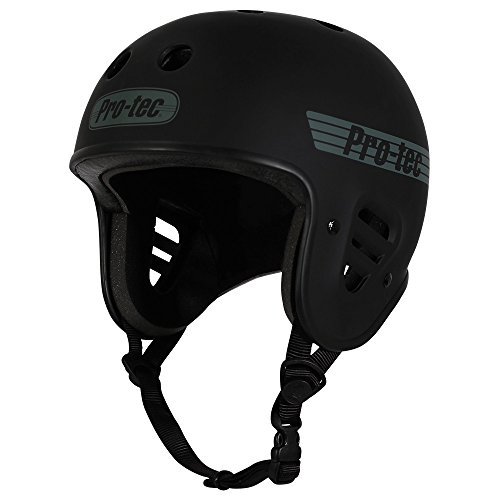 Protec Pads Skate Helmets - Pro-Tec Full Cut Cert, Matte Black, S