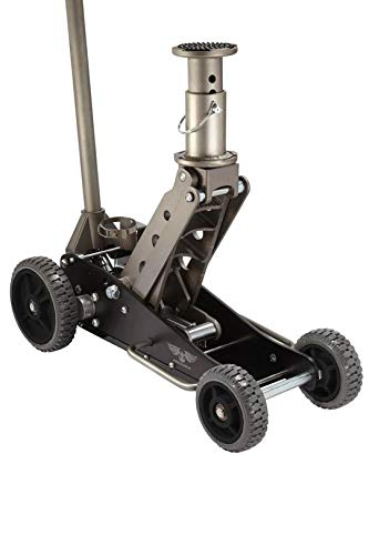 COOKE Pro Eagle 2 Ton Big Wheel Off Road Car Jack, The Beast, Off Road Racing High and 4WD Vehicle Floor Jack (2 Ton, Black, Big Wheel, with - Racing 4wd Road Off