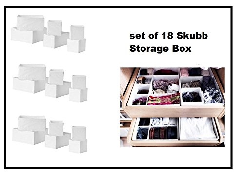 Ikea Skubb Storage Box,drawer Organizer,multiuse SET OF 18, White