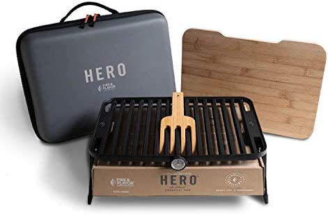 Fire Flavor Hero Grilling System, Non-Stick, Dishwasher Safe Grill