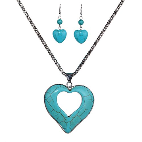 Vintage Pretty Hollow Heart Je...