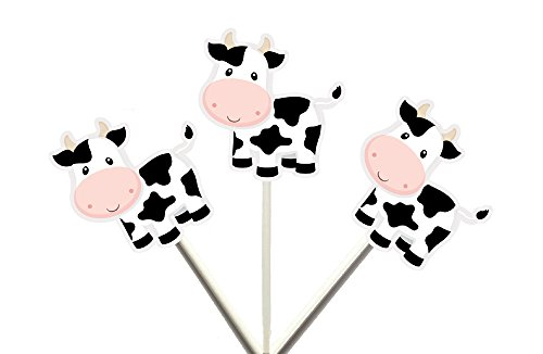 Cow Cupcake Toppers, Farm Animal CUPCAKE TOPPERS by Crafty Cue