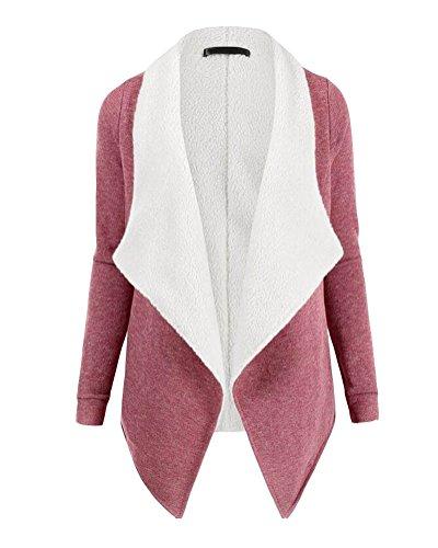 Cárdigan Trench Parka Suelto Corto Moda Rosa De Mujer Chaqueta Coat Elegante Sudaderas KYz8BwUwxq