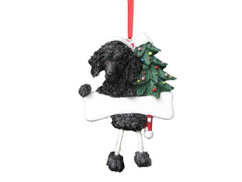 - Poodle Ornament Black with Unique