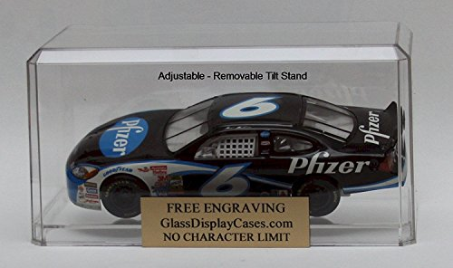 1/18 1:18 Scale Large Diecast Car Personalized Engraved with Tilt stand Acrylic Display Case (Standard York Post New)