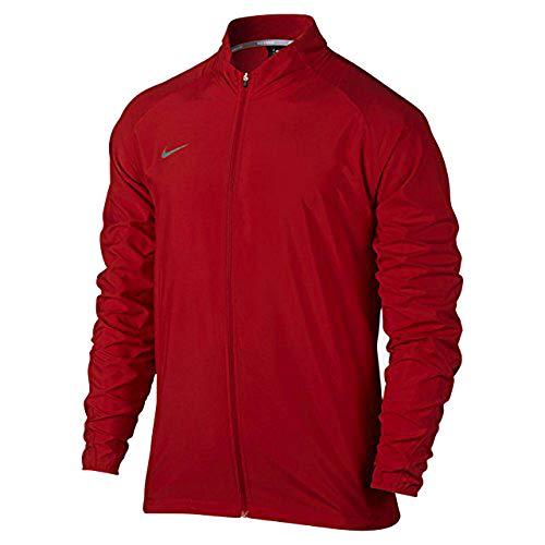 Nike Men's Team PR Woven Running Jacket Red Silver 728257-657 (L)
