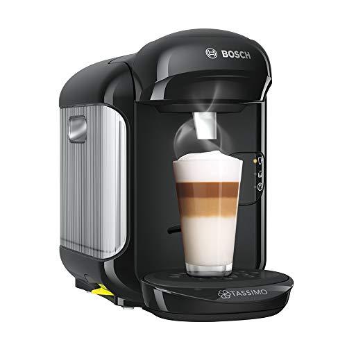 Bosch Tassimo Vivy 2 Cafetera cápsulas, 1300 W, 0.7 litros, Aluminio, Negro