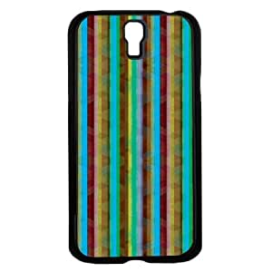 Colorful Blue and Burgundy Stripes Hard Snap on Phone Case (Galaxy s4 IV)