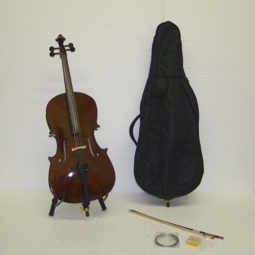 Crystalcello MC110 1/2 Size Cello with Carrying Bag + Bow + Accessories by Merano